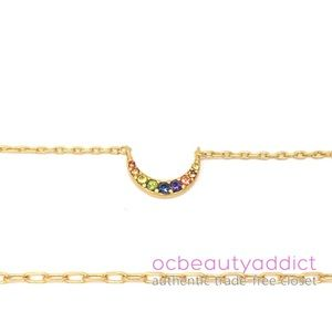 Madewell Rainbow Pave Moon Necklace Set